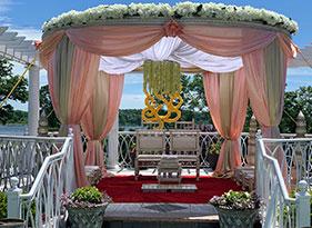 pink indian wedding decoration